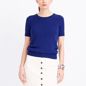 J. Crew Short-Sleeve Cotton Sweater